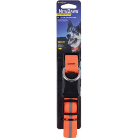 Nite Ize Nite Dawg LED Dog Collar Medium Orange